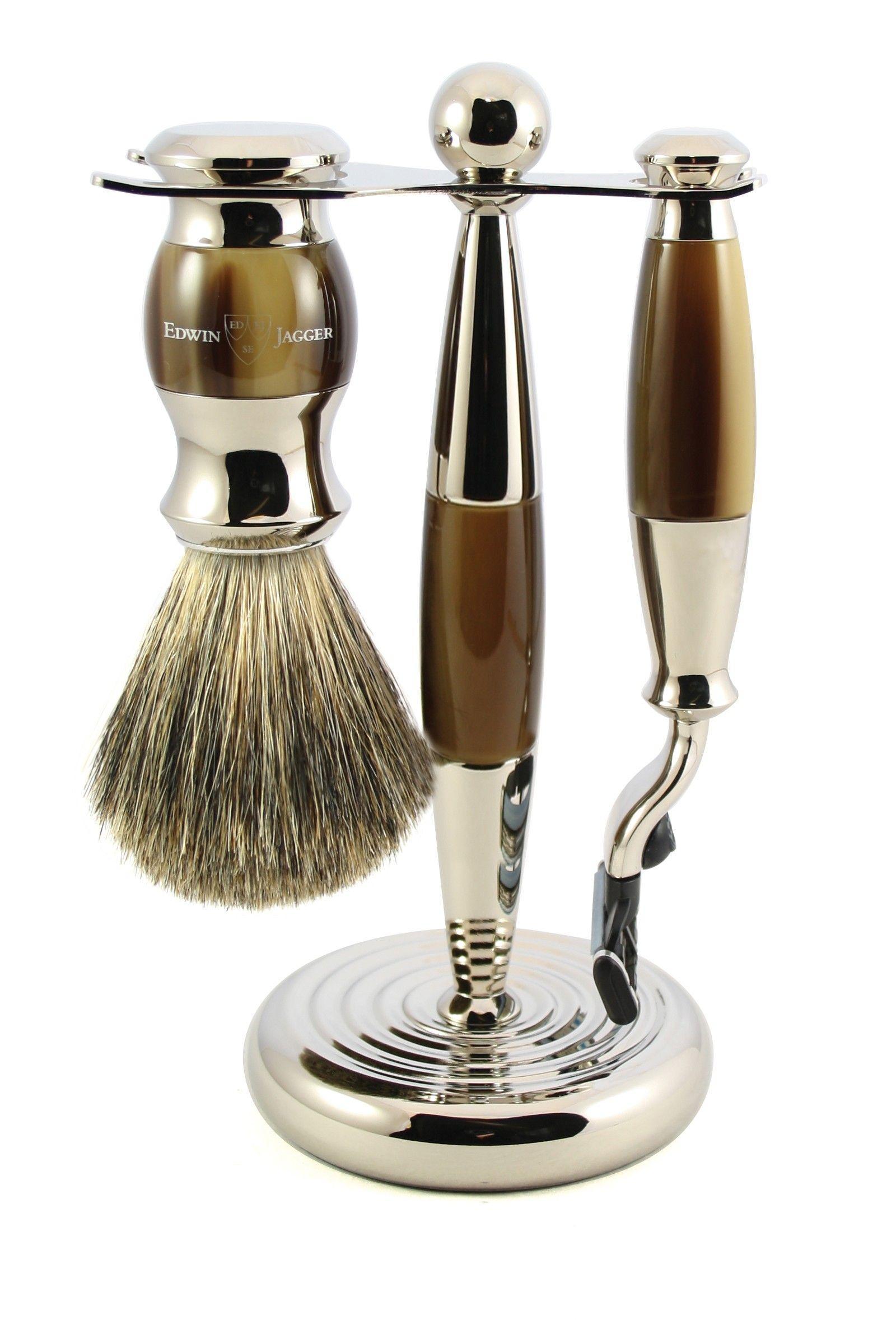 Horn 3 Piece Shaving Set Shaving set, Shaving, Edwin jagger