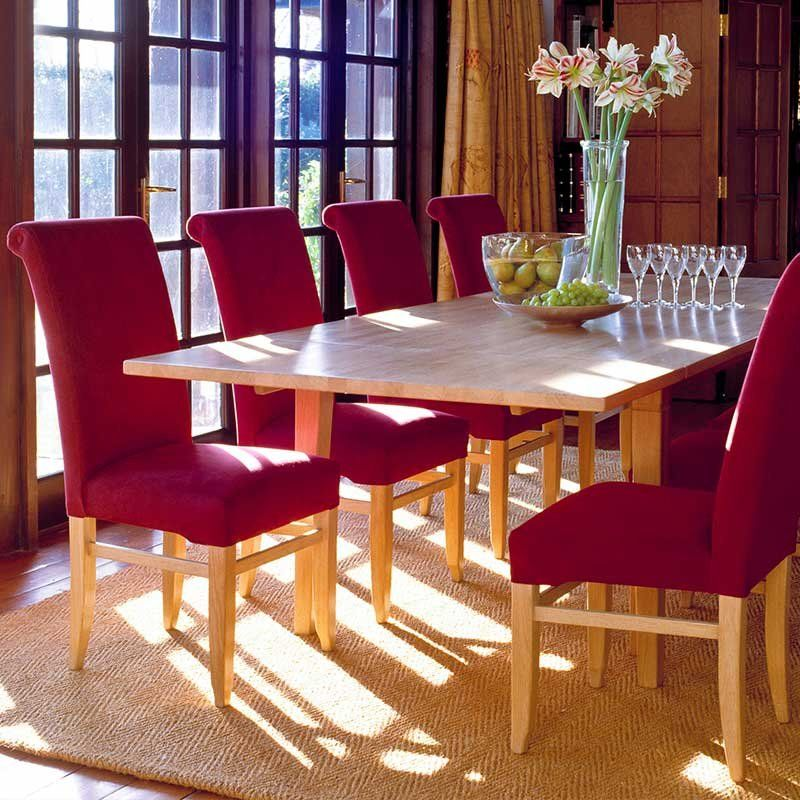 rollback dining chairs upholstered in stunning fabrics or leather rh pinterest com