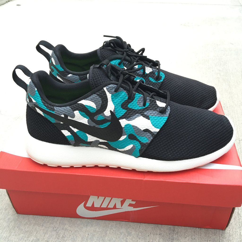 Camo Nike Roshe One. These custom hand-painted Nike Roshe One Sneakers ...