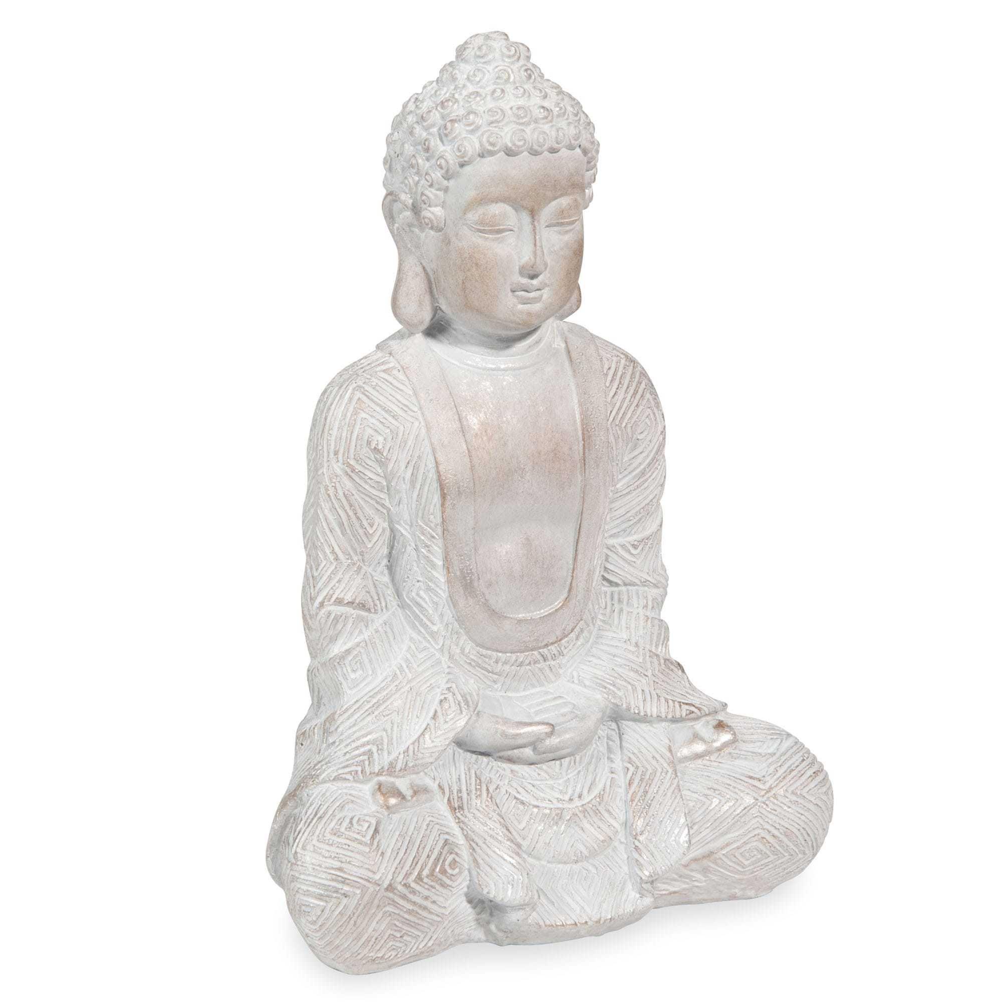 Statuette Bouddha Effet Blanchi H23 Maisons Du Monde Statuette Bouddha Bouddha Statue Bouddha