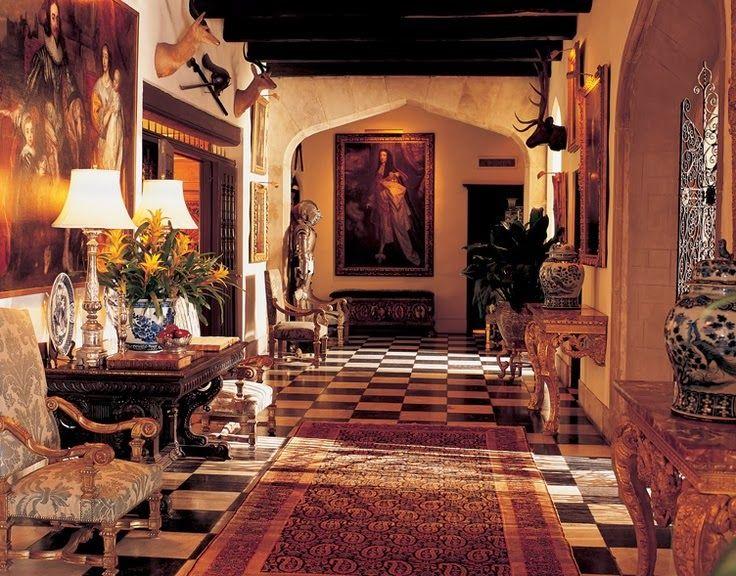 Many Tudor interiors featured linenfold paneling. It was thought ...