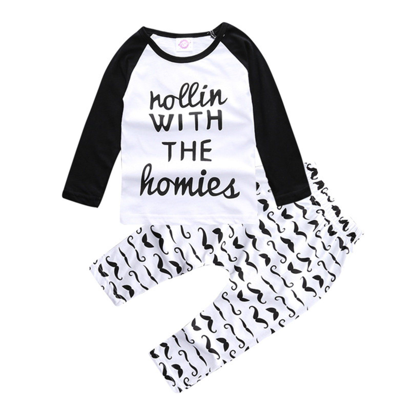 Jewby 2PCS Toddler Kid Baby Girl Boy Summer Outfit Clothes T shirt