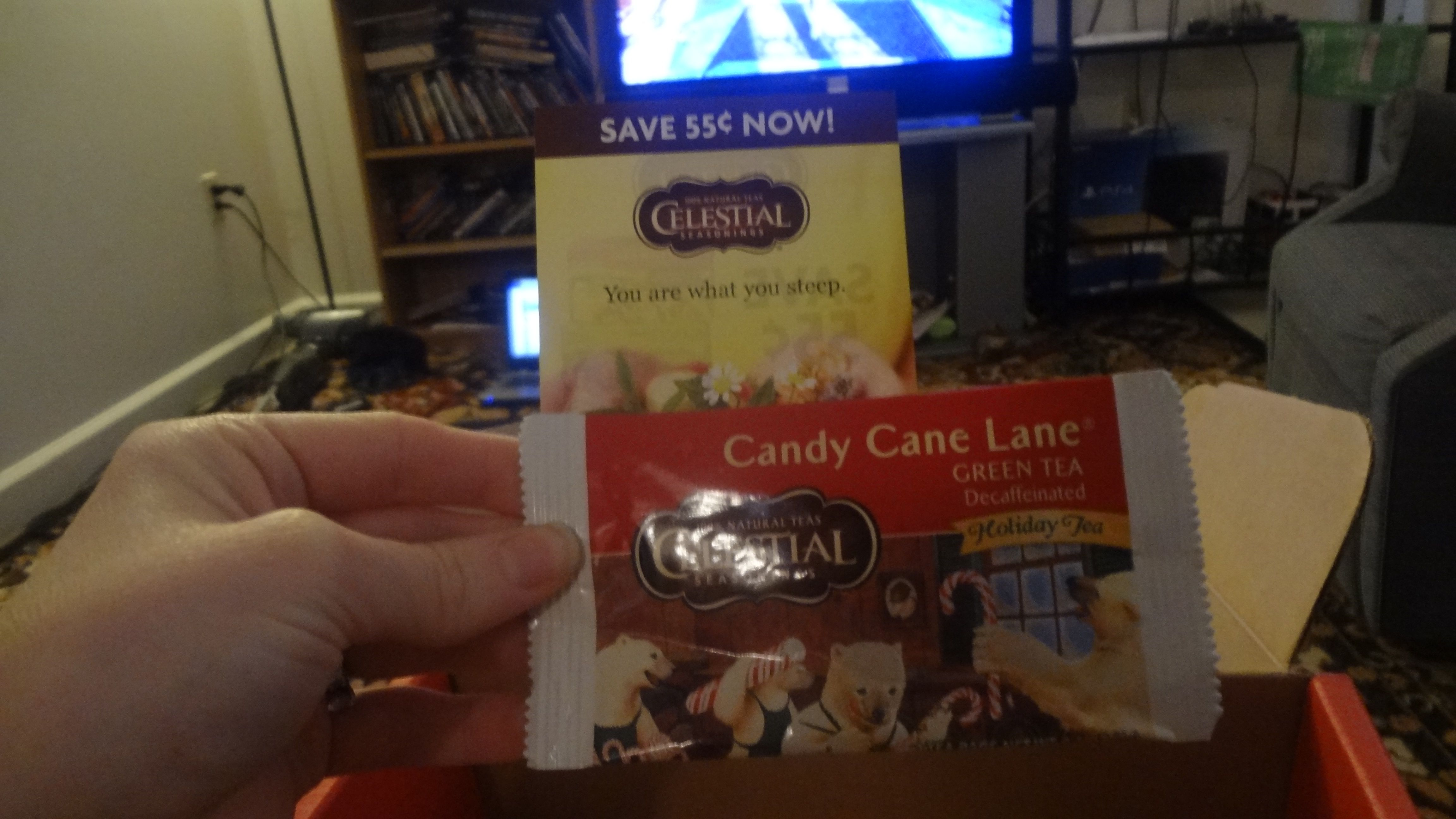 Celestial Seasonings Candy Cane Lane tea Candy cane tea