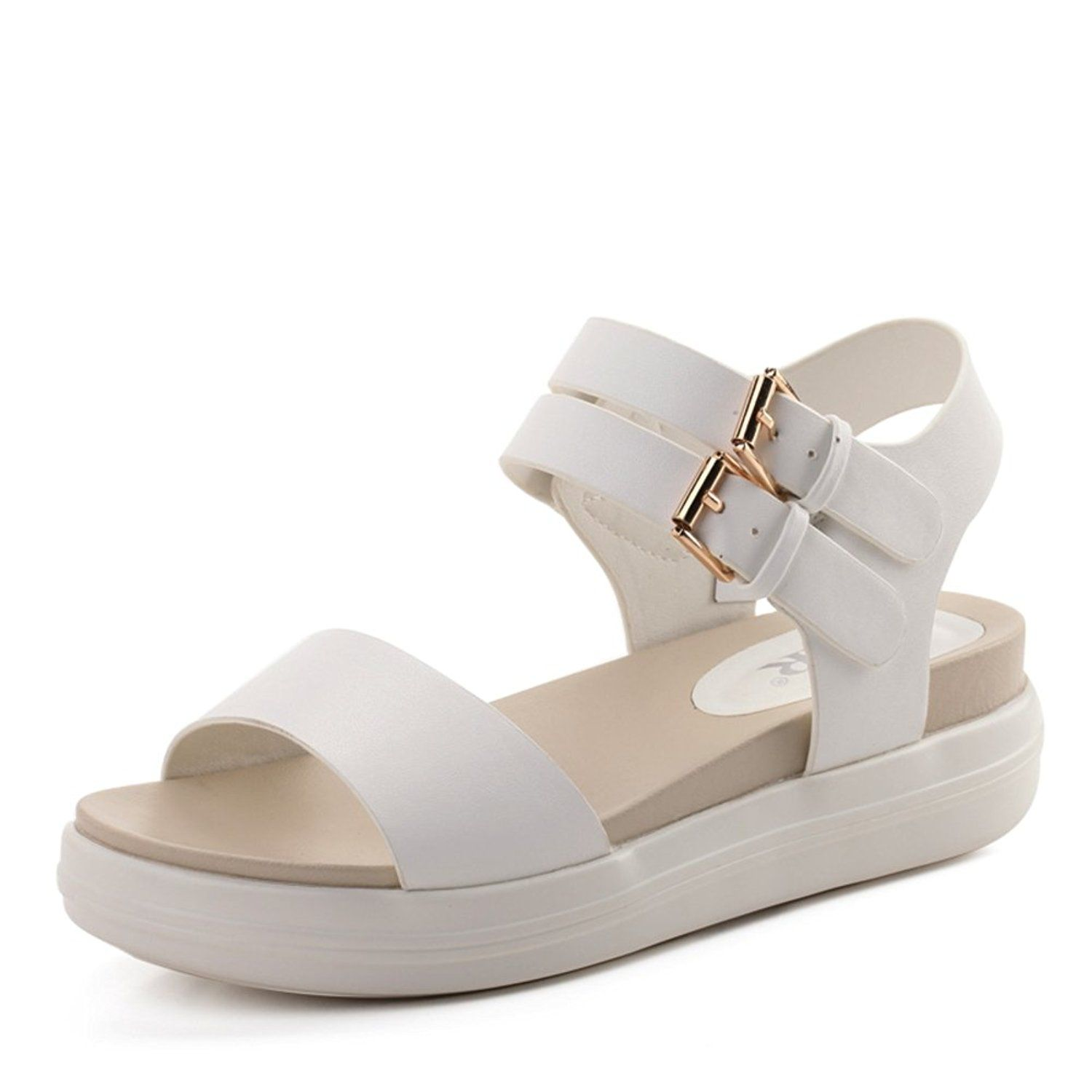0cb3df2767b4 Summer Korean version of thick soles for ladies sandals Students with flat  Sandals women With platform shoes -- Click image to review more details.