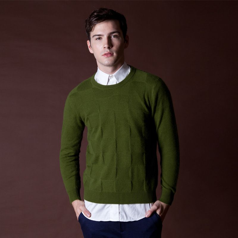 2015 Winter New Mens Cashmere Sweater Fashion Casual Wool Men ...