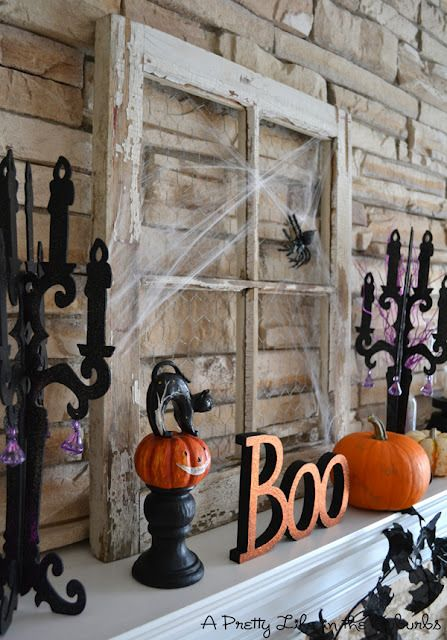 Halloween Mantel halloween Pinterest Mantels, Holidays and