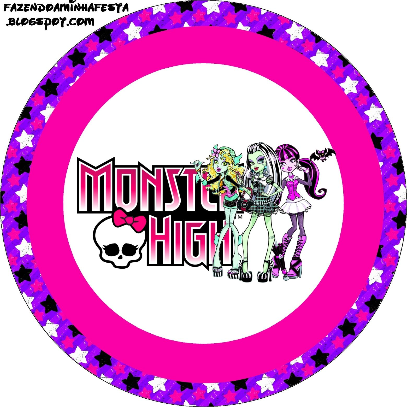 Monster High: Etiquetas para Imprimir Gratis.   papeles ...