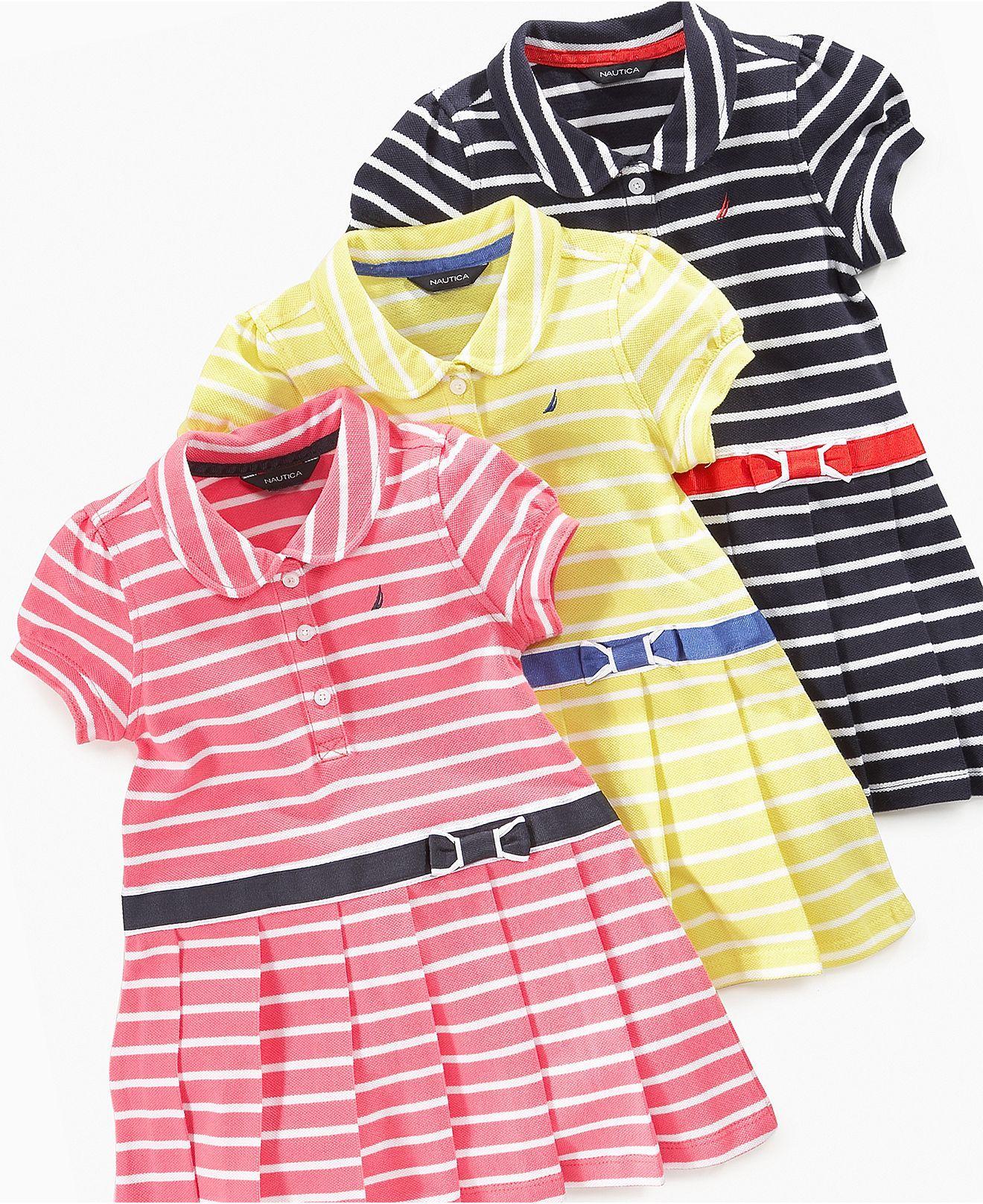 Nautica Baby Dress Baby Girs Polo Dress Kids Baby Girl 0 24