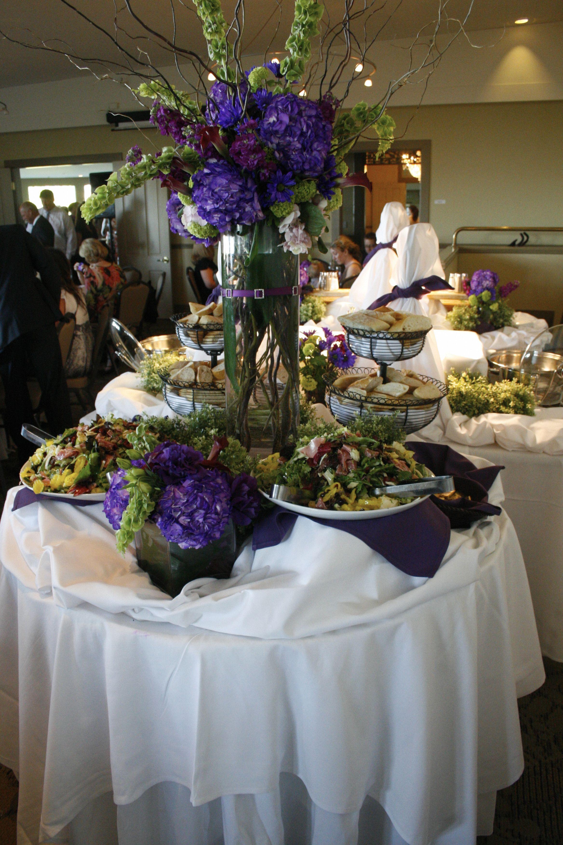 Buffet Table Wedding Purple Buffettable Weddingdecor