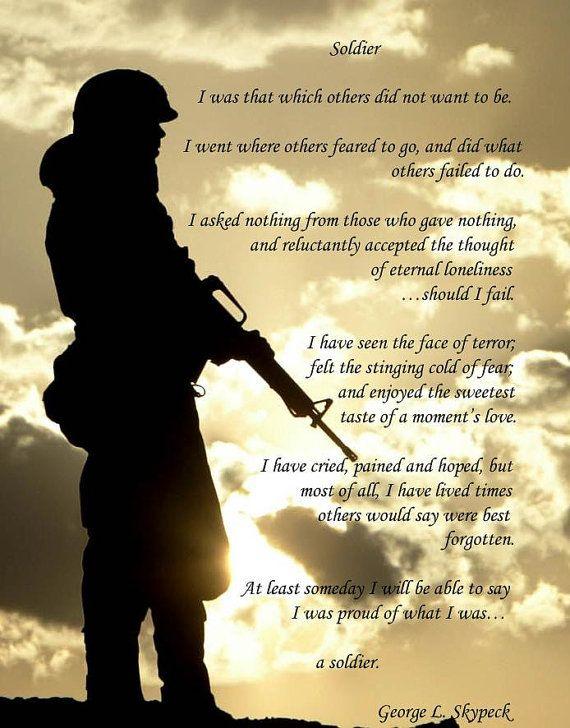 SOLDIER POEM Print - Military, Army, Navy, Marines, Air ...