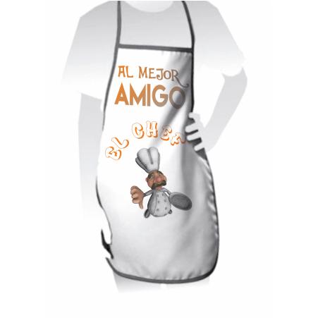 """IMADECO Delantal """"Al mejor Amigo"""" Siguenos en https://www.facebook.com/imadecoracion"""