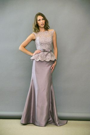 Lazaro Peplum Bridesmaid Dresses