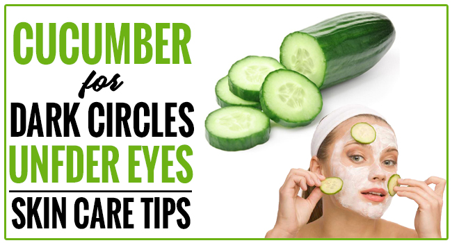 How to Remove Dark Circles with Cucumber #darkcircle