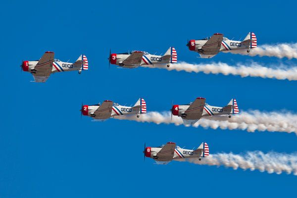 GEICO Skytypers Air Show Team.  >>>>Arizona's best AVIATION THEMED RESTAURANT! Tell your friends we'd love to see them visit us at the LEFT SEAT WEST RESTAURANT, Glendale, Arizona!  Check out our Facebook page! http://www.facebook.com/pages/Left-Seat-West-Restaurant/192309664138462