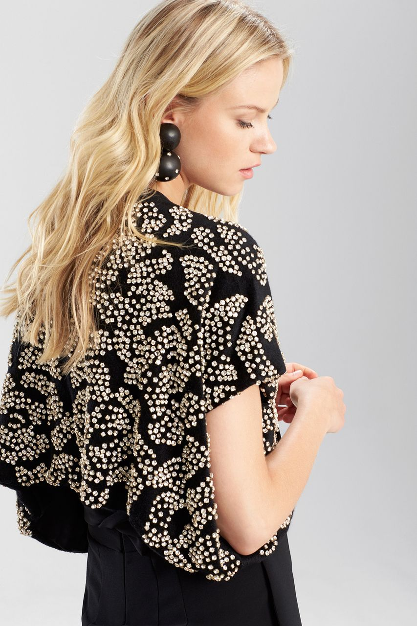Add some sparkle and glam to your holiday outfit this season. Shop the  Josie Natori bolero today at natori.com 68d642c9f