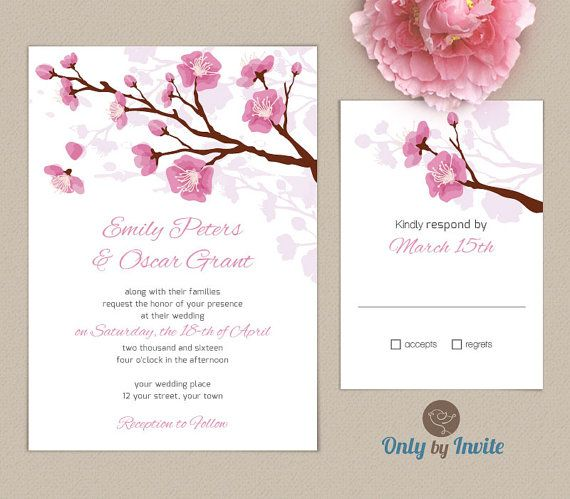 Printed Wedding Invitation and info card bundle