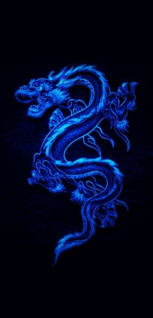 10 Best Wallpapers for Huawei Mate 40 Pro 05 - Animated Blue Dragon - HD Wallpapers   Wallpapers Download   High Resolution Wallpapers