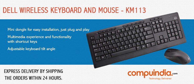 fa41c9b87fd #Dell KM113 Wireless Keyboard and mouse combo for everyday usage provides  users the freedom of wireless computing!!! ...
