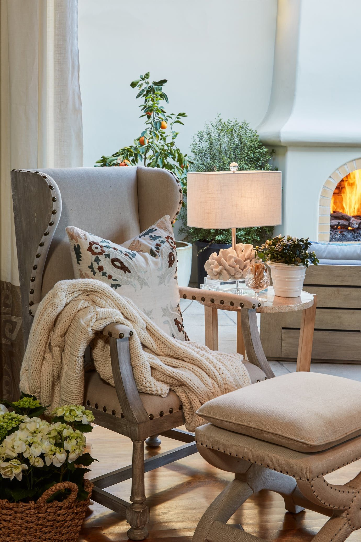 Reading room niche detail vignette american eclectic mediterranean by dtm interiors
