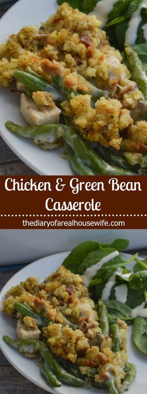 Chicken and Green Bean Casserole. One of my favorite casserole recipes for sure....