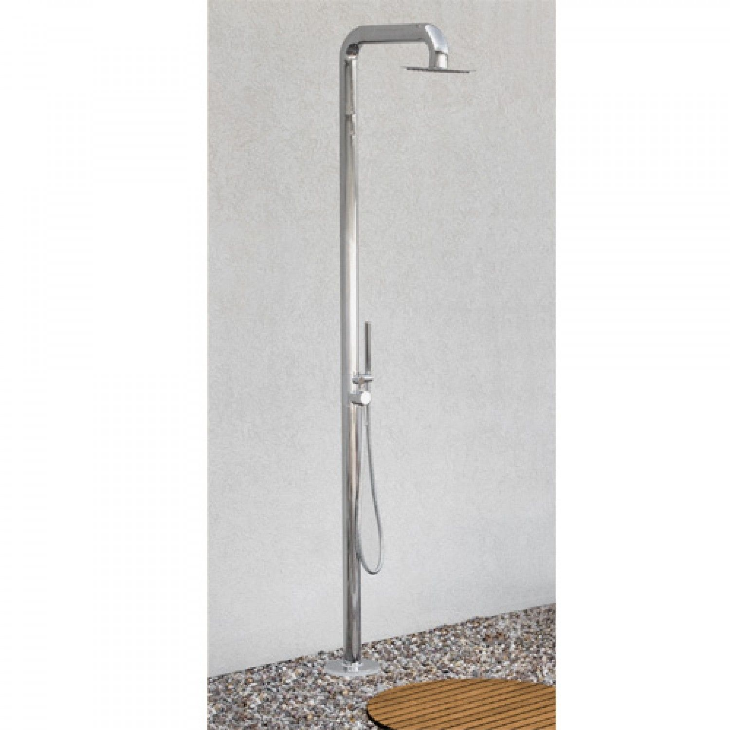 Cavendish Outdoor Thermostatic Freestanding Shower With Brass Hand