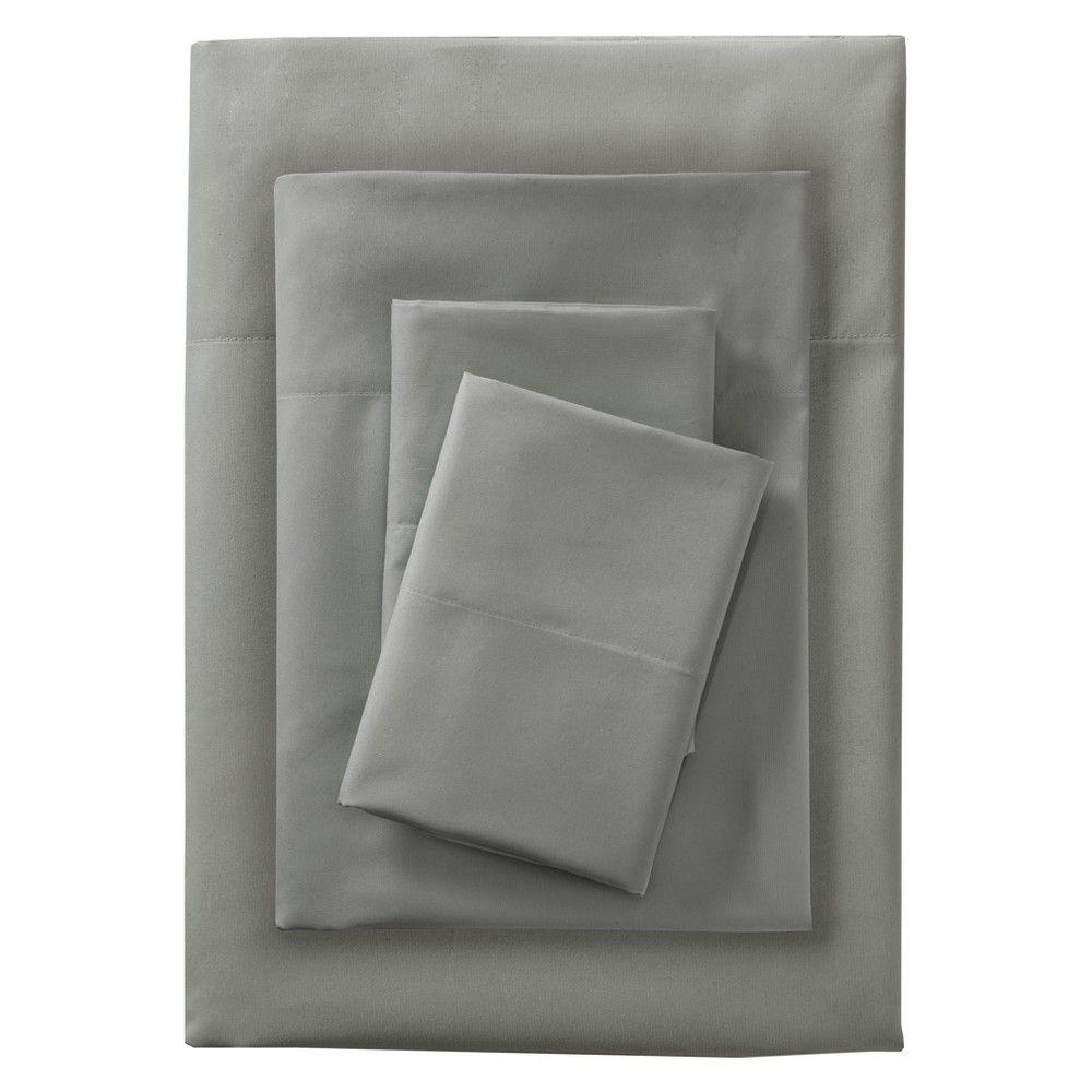 Smart Cool Microfiber Sheet Set California King Gray Room Essentials Solid Sheet Sets Microfiber Sheets [ 1000 x 1000 Pixel ]