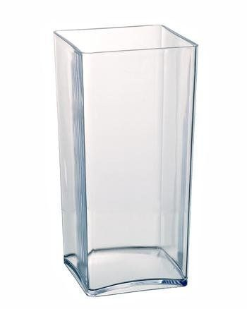 Clear Acrylic Cube Vase Hard Wearing Lightweight Durable Plastic 25cm High Co