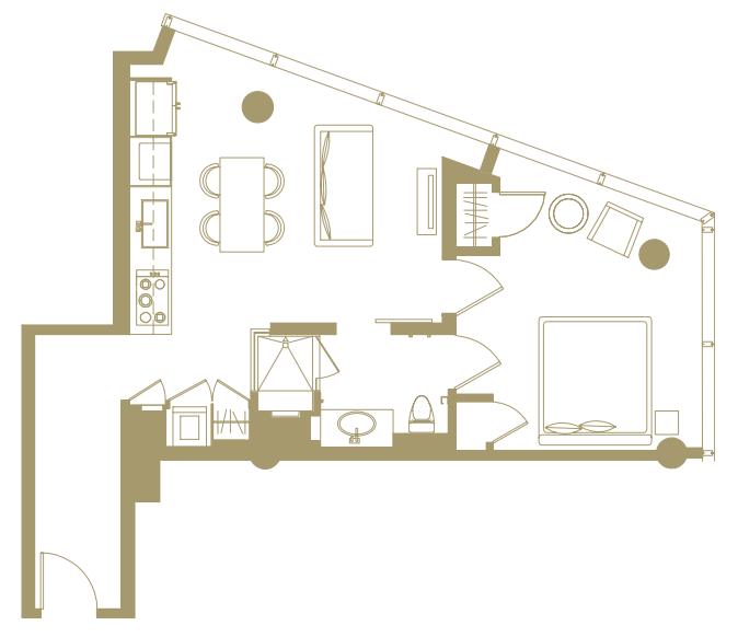 Veer Towers, Las Vegas - 1 Bedroom | Luxury homes, Floor plans