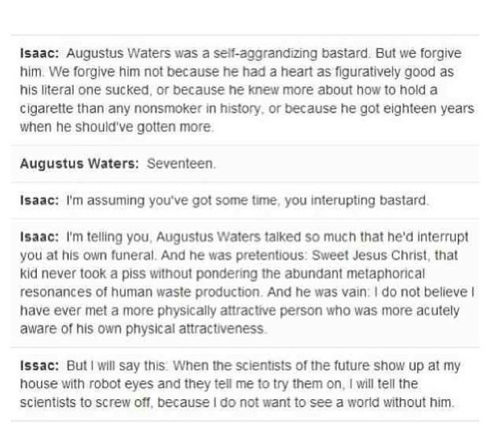 resume The Fault In Our Stars Resume issacs speech at his funeral made me cry its a metaphor shakespeare quotesjohn greenfandoms unitetfiosfuneralinfinitycryingquotes