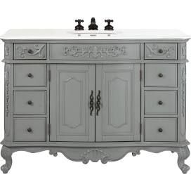 Charmant Home Decorators Collection Winslow 48 In. W Bath Vanity In Antique Grey  With Marble Vanity