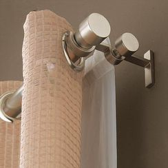 double curtain rod would be perfect for our