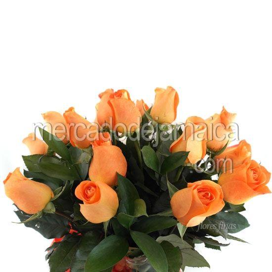 Arreglos Florales Rosas Naranja Encanto Envia Flores