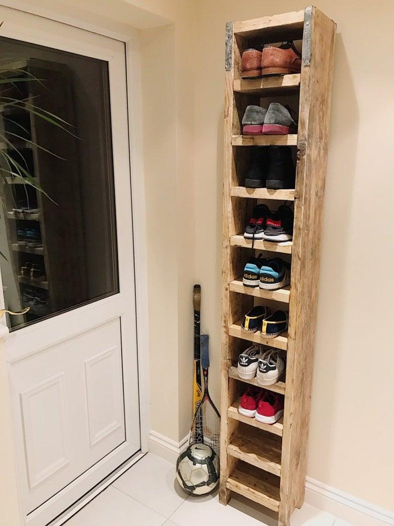 tall shoe rack etsy wooden shoe