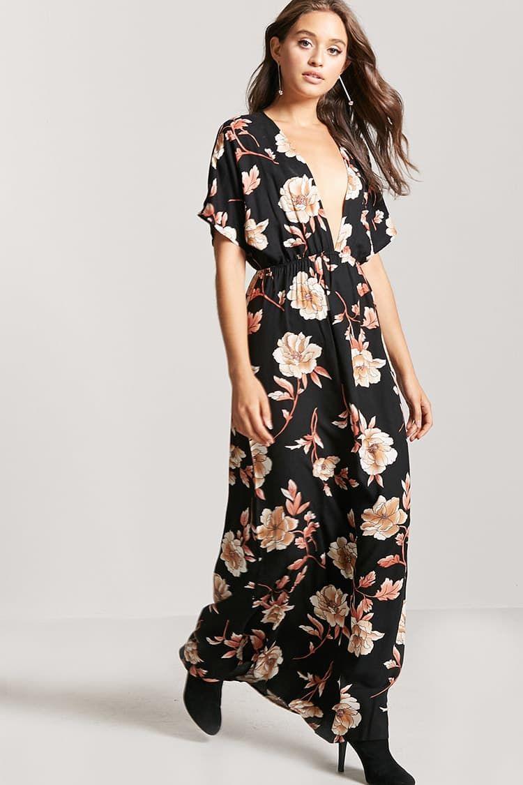 Vestido largo de flores modèles pinterest floral maxi dress