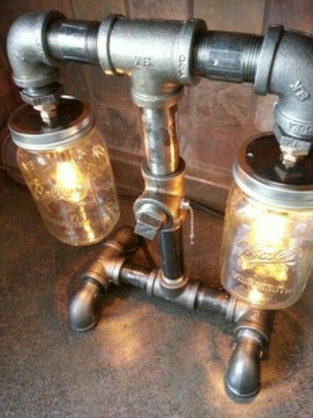 Industrial decor black iron pipe light and switch decor for Black iron pipe lights