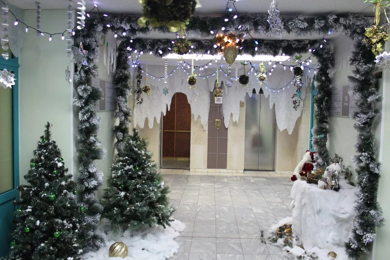 скученный прекрасно фото новогоднего фойе залов кодры находится под