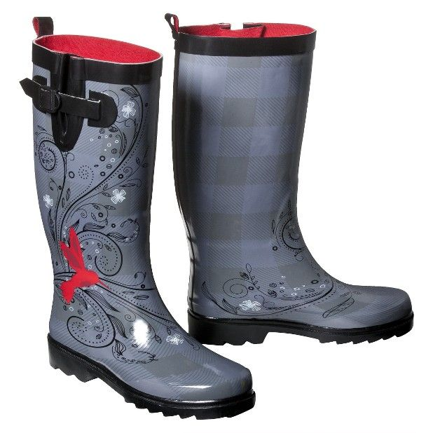 Those are pretty! Hummingbird rain boots! $32.99 at Target (can't ...
