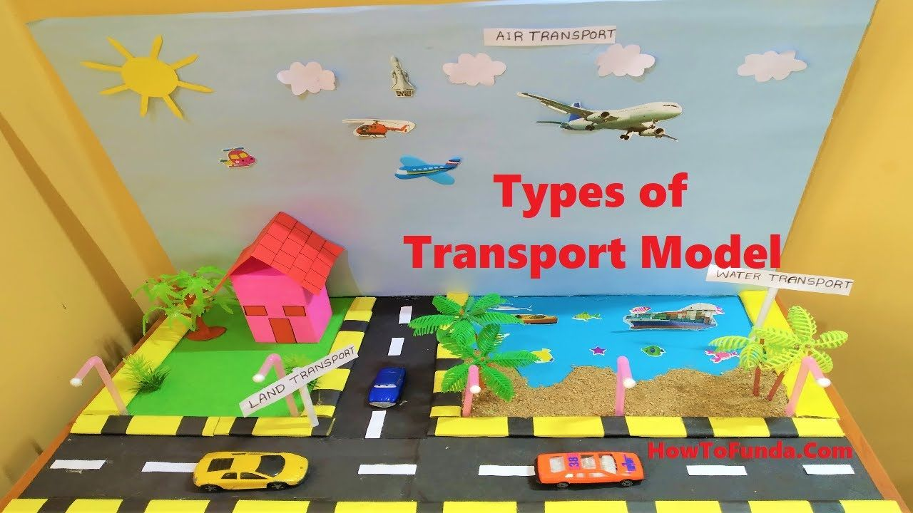 Types Of Transport Model For School Science Project Science Fair Howtofunda School Science Projects Science Projects Transportation Crafts