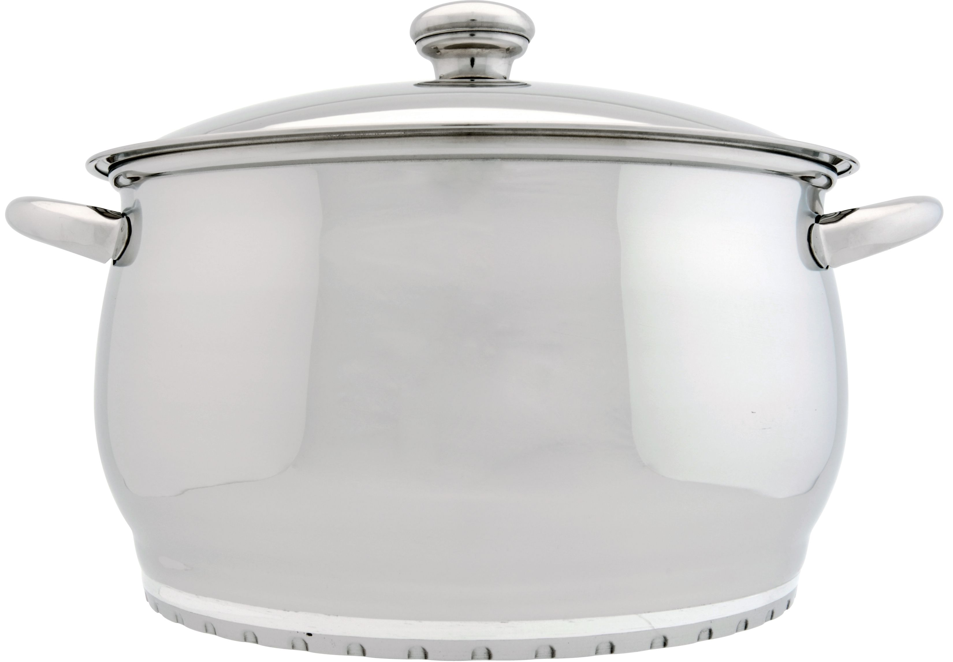 BergHOFF Cosmo 10'' Covered Stock Pot 7Qt, Silver Steel