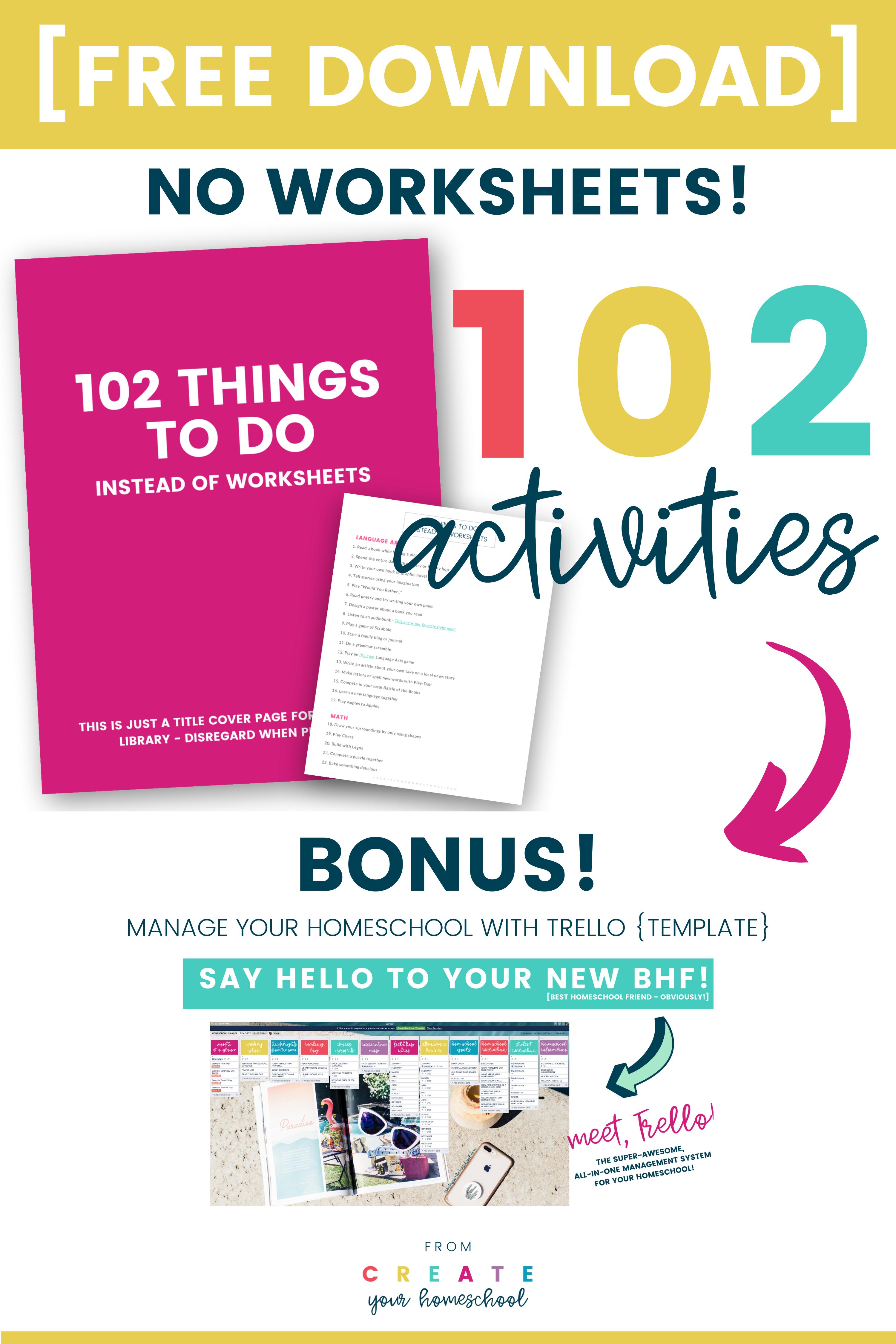 102 Homeschool Activities