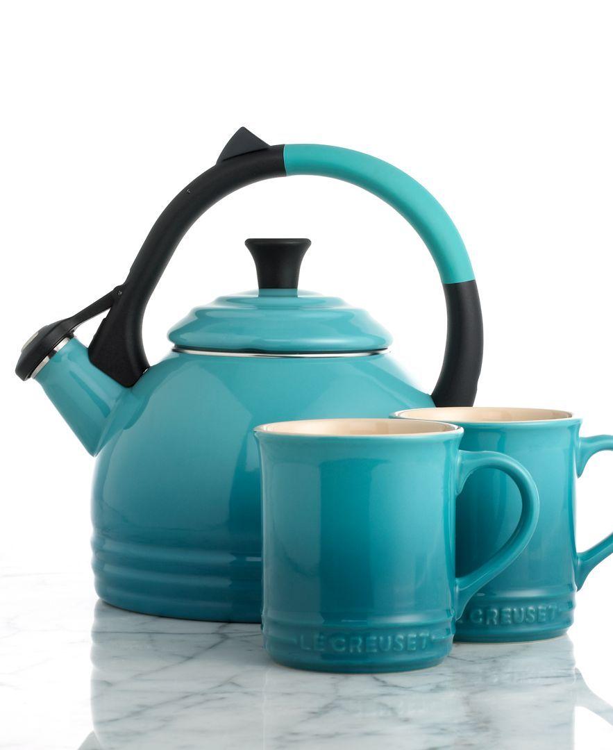 Le Creuset 1.7 Qt. Kettle & Mug Set | 工作需要 | Pinterest | Mint ...