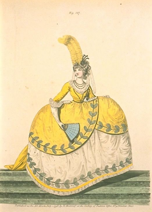 Court Dress, July 1798, Gallery of Fashion