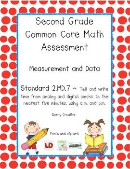 Weekly Freebie: FREE Number Resource  Free from Berry Creative on TpT  Common Core Math Assessment ~ Standard 2.MD.7