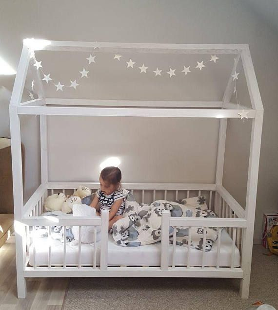 kleinkind bett twin size babybett kinderbett montessori. Black Bedroom Furniture Sets. Home Design Ideas
