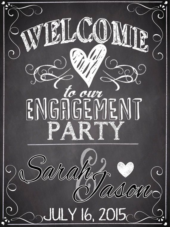 Personalized WELCOME to our Engagement Party by CustomPrintablesNY - engagement party templates
