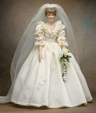 Franklin Mint Princess Diana Doll Wedding Dress Barbie Wedding Dress Wedding Doll
