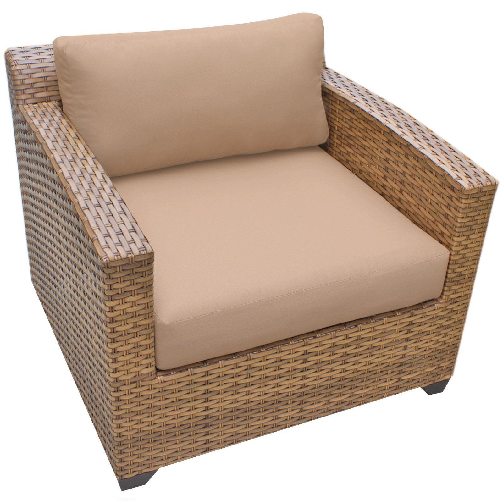 Outdoor Home Bayou Wicker Outdoor Patio Club Chair , Patio Furniture