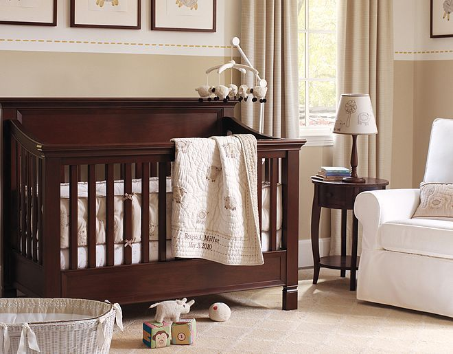Counting Sheep In This Beautiful Nursery From @Pottery Barn Kids  #PampersBabyDry