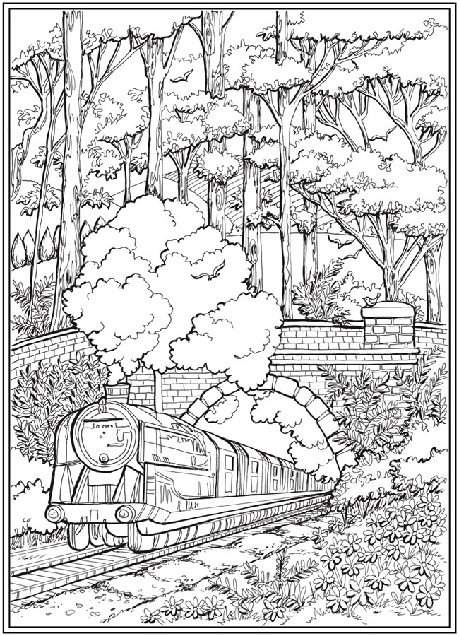 Welcome To Dover Publications Detailed Coloring Pages Train Coloring Pages Mandala Coloring Pages