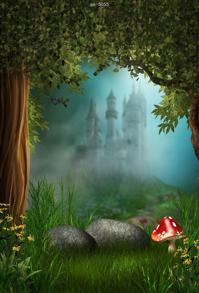 Fantasy Forest Castle Photo Background Studio Backdrop In